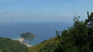 Blick von Taboga nach Panama City.