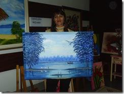 Lourdes com seu quadro