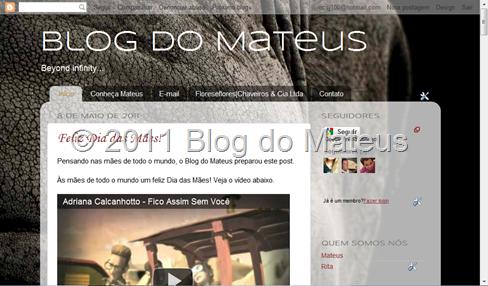 Novo design do Blog do Mateus