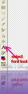 font tool visual5