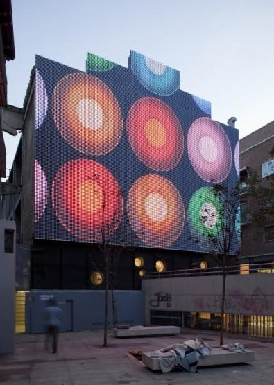 Digital facade for Medialab Prado | world Architecture