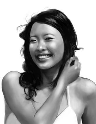 tingyi digital portrait