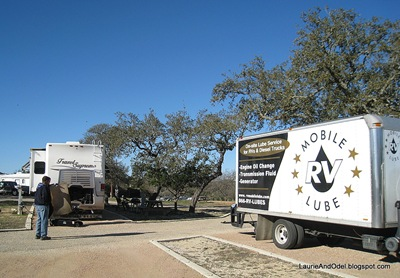 RV Mobile Lube doing our onsite oil change.