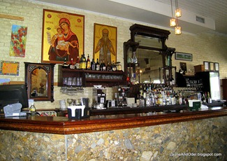 The Cafe des Amis bar