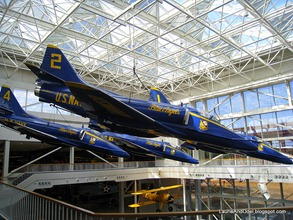 Display of the Blue Angels.