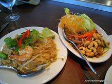 Entrees: Pad Thai and Duck Salad
