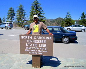 NC TN State Line in Great Smoky Mountains