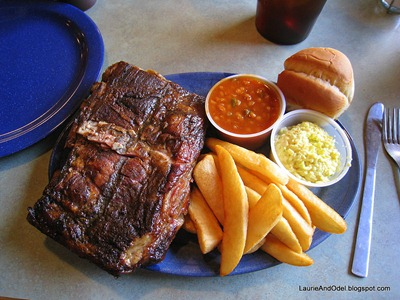 Half Slabof ribs at Mud Creek Restaurant