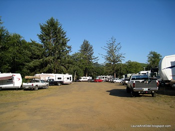 South parking area