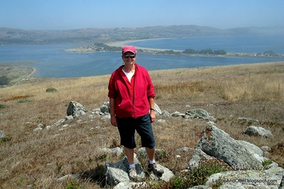 Hiking the northern California coast, wearing a SWEATSHIRT!