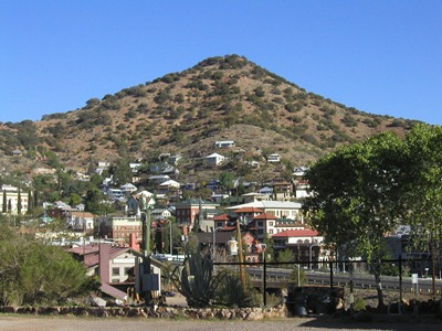 View of Bisbee from Queen Mine RV Park