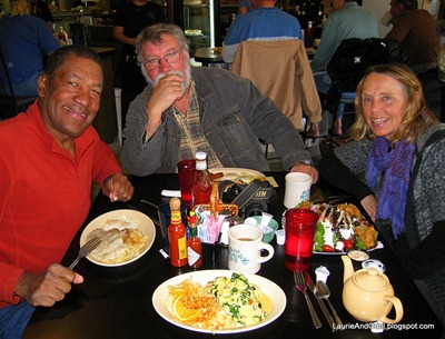 Odel, Al, and Kelly (of the Bayfield Bunch) at the Bisbee Breakfast Club