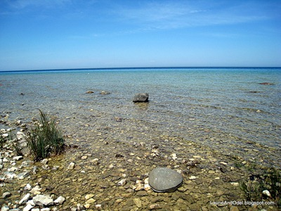 On the shore of Lake Huron