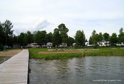 Looking back at the campground from the dock.