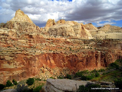 The domes of Capitol Reef National Park, on the other side of Highway 24.
