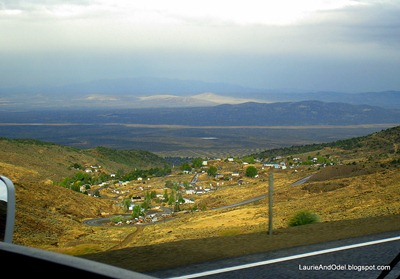 Looking down on Austin, NV, heading west on Hwy 50.