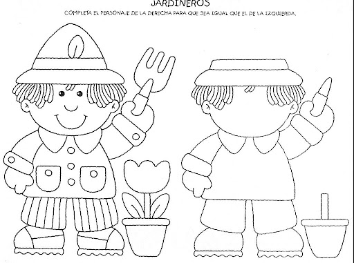 Mundo infantil la percepci n espacial for Jardinero en ingles