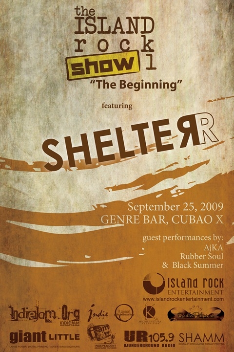 SHELTER - the beginning - poster