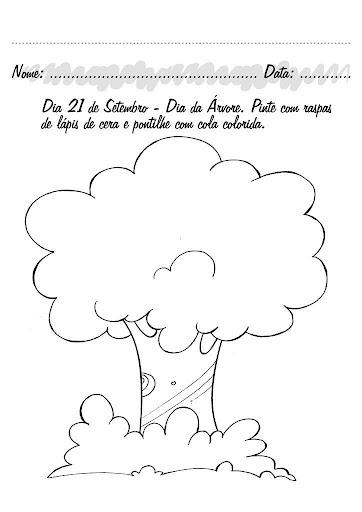 actividades con dibujos para el dia del arbol