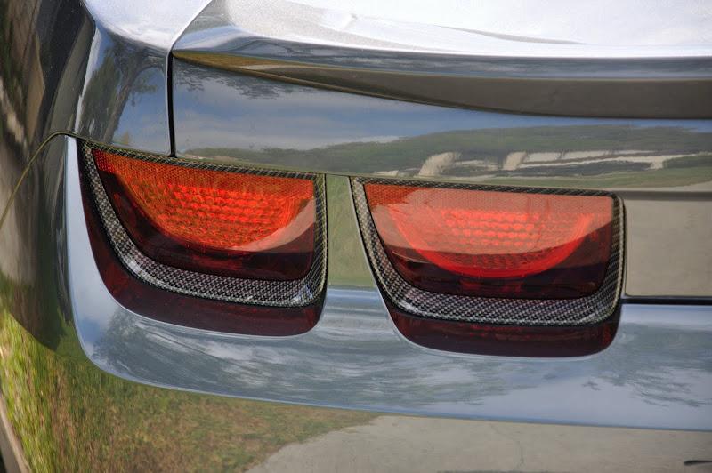Carbon Fiber Finish Tail Light Bezels Installed