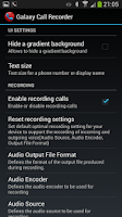 Screenshot of Galaxy Call Recorder