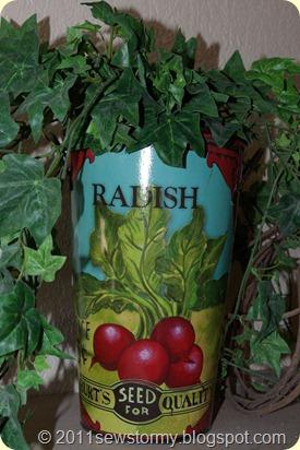 Vintage radish pail