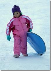 Hannah sledding 4