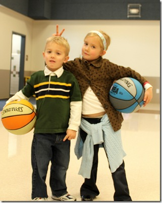 Emma and gabe bball