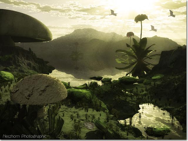 Land of the giant plants 3d landscape pictures