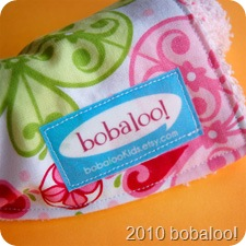 11 30 10 old label on burp cloth