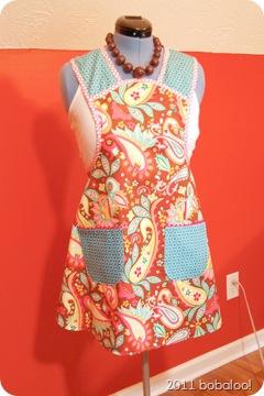 4 5 11 paisley apron