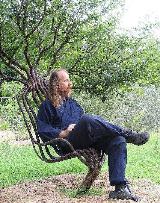 Want to take rest at a park... A Tree Chair