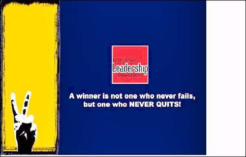 Winners are not Quitters