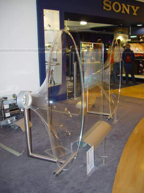 Sony's transparent TV
