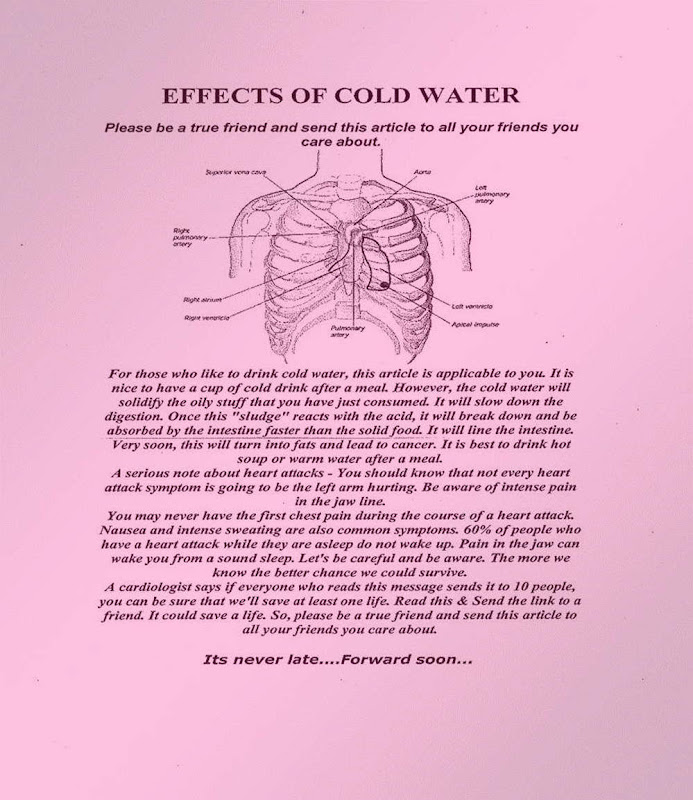 Side Effects Of Cold Water