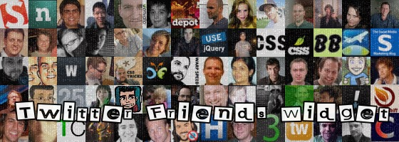 Twitter Friends & Followers Widget - A jQuery Plugin