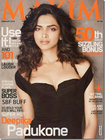 Deepika Padukone on the Maxim cover page