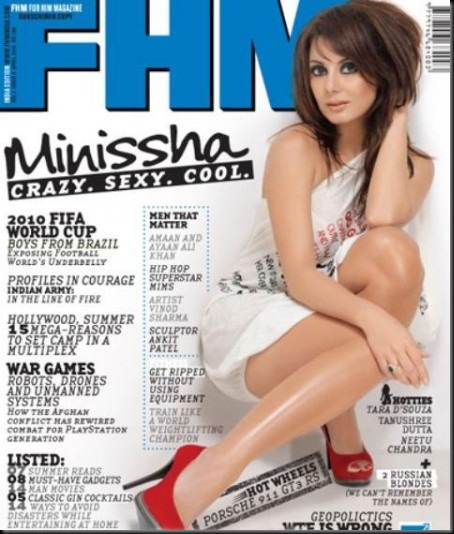 minissha lamba on FHM