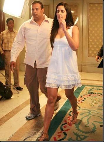 Katrina Kaif in a White Short Dress at IPL after Nights party