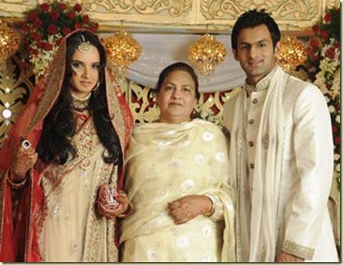 3Sania Mirza ,Shohib Malik  wedding reception pictures