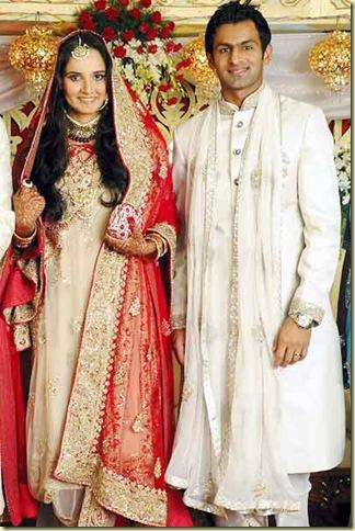 5Sania Mirza ,Shohib Malik  wedding reception pictures