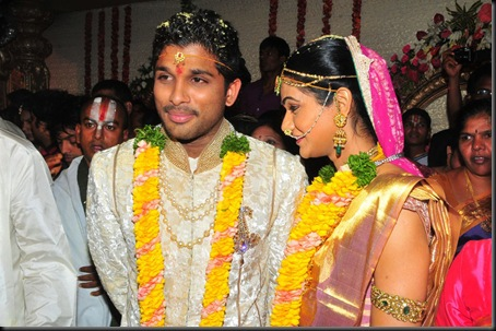Allu Arjun Sneha Reddy wedding stills