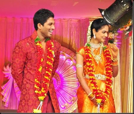 Allu Arjun Sneha Reddy wedding reception pictures1