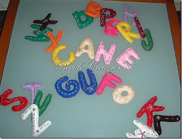 lettere alfabeto di feltro