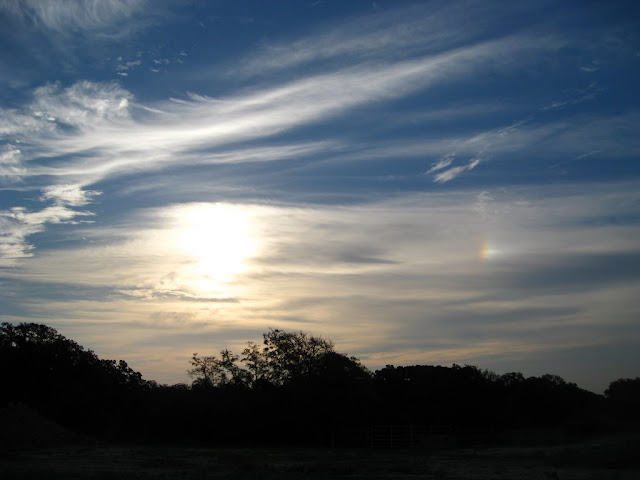 Sundog on a weekend morning