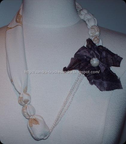 Tecido flor castanha