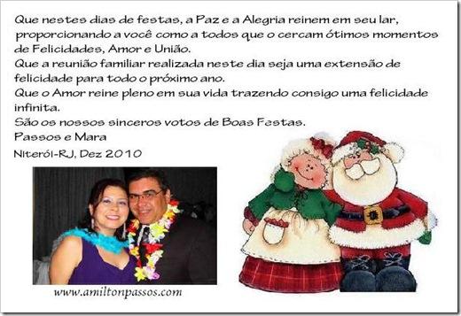 carrtão de natal 2010