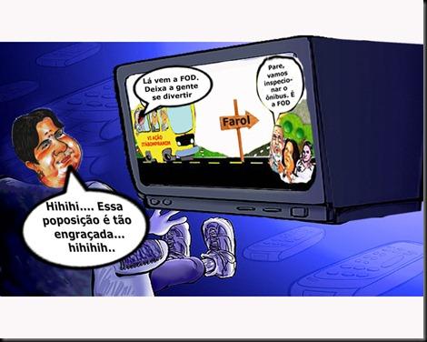 rosinha vendo tv