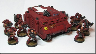 space marine rhino [with squad]