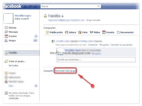 Grupos Denunciar Facebook